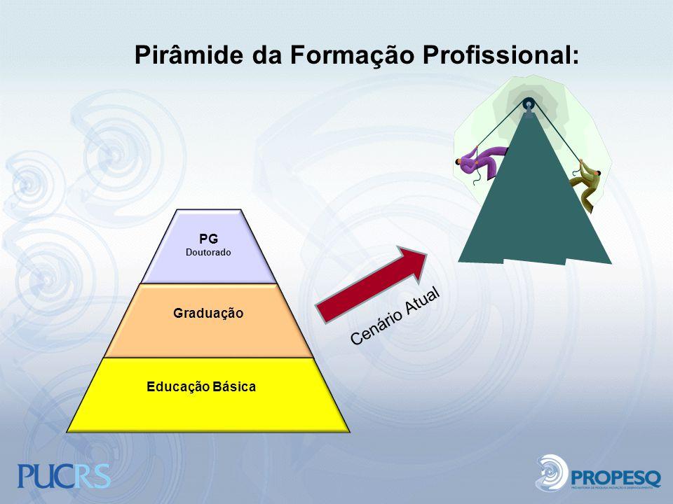 Pirâmide da Formação Profissional: PG Doutorado Graduação Educação Básica Cenário Atual