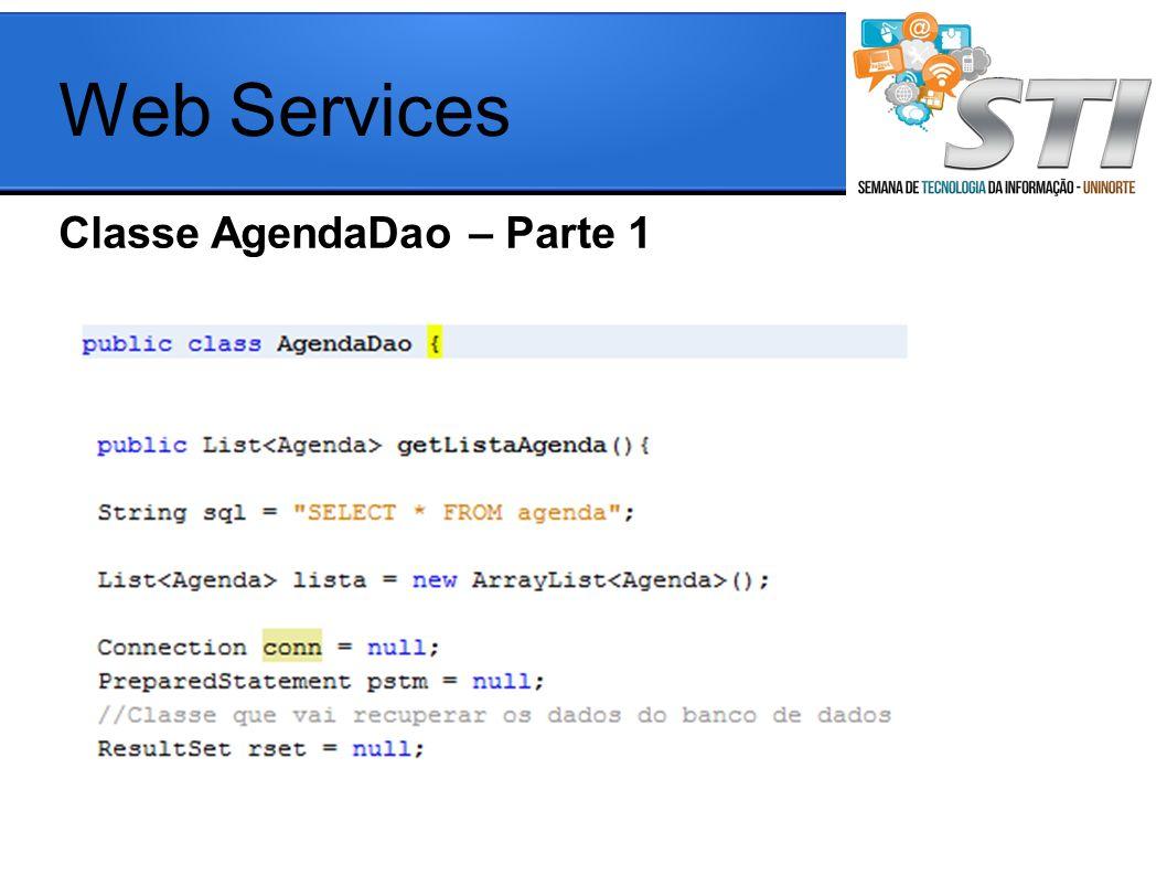 Classe AgendaDao – Parte 1 Web Services