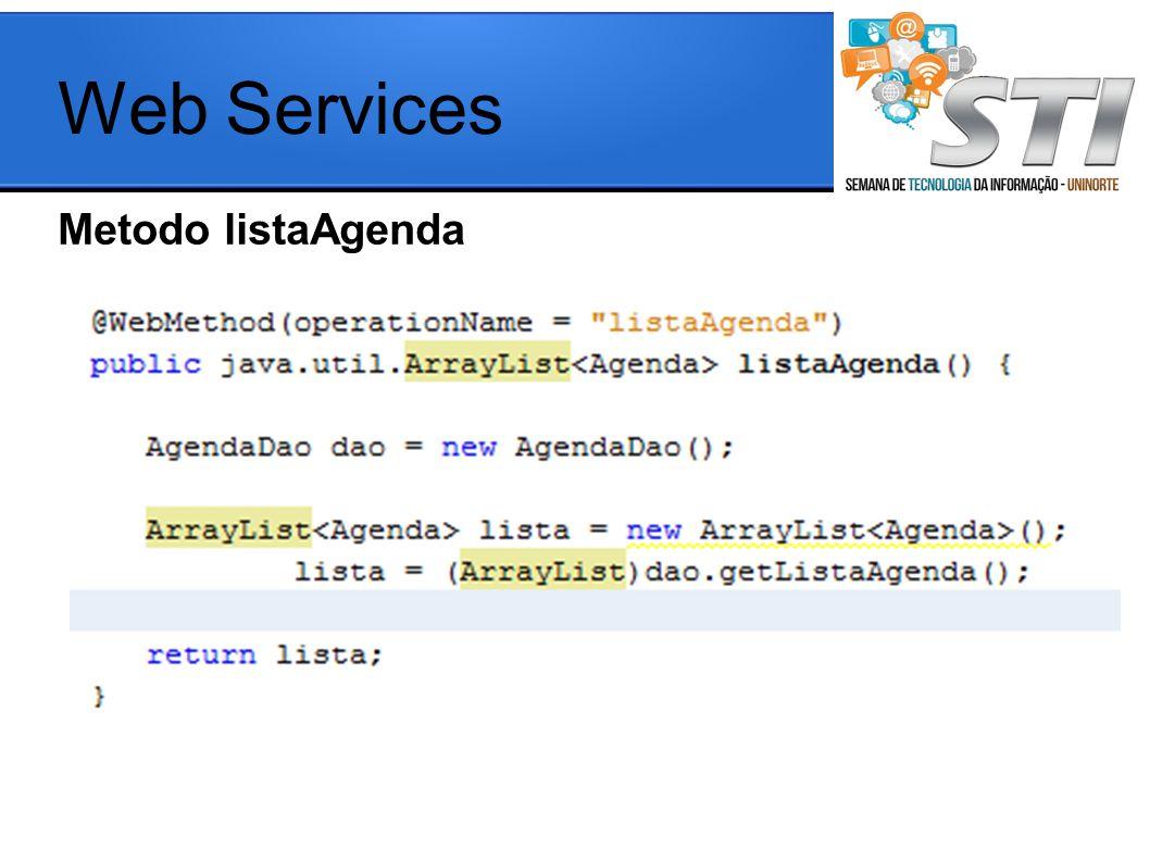 Metodo listaAgenda Web Services