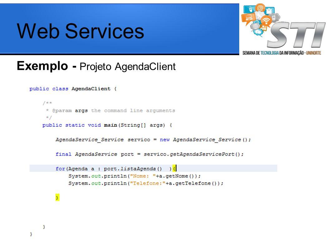 Exemplo - Projeto AgendaClient Web Services