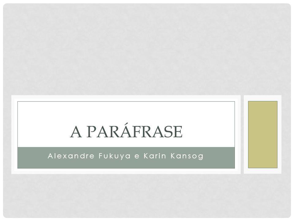 As relações parafrásticas podem ser focalizadas sob três ângulos: o aspecto distribucional; o aspecto operacional; a semântica das relações parafrásticas.