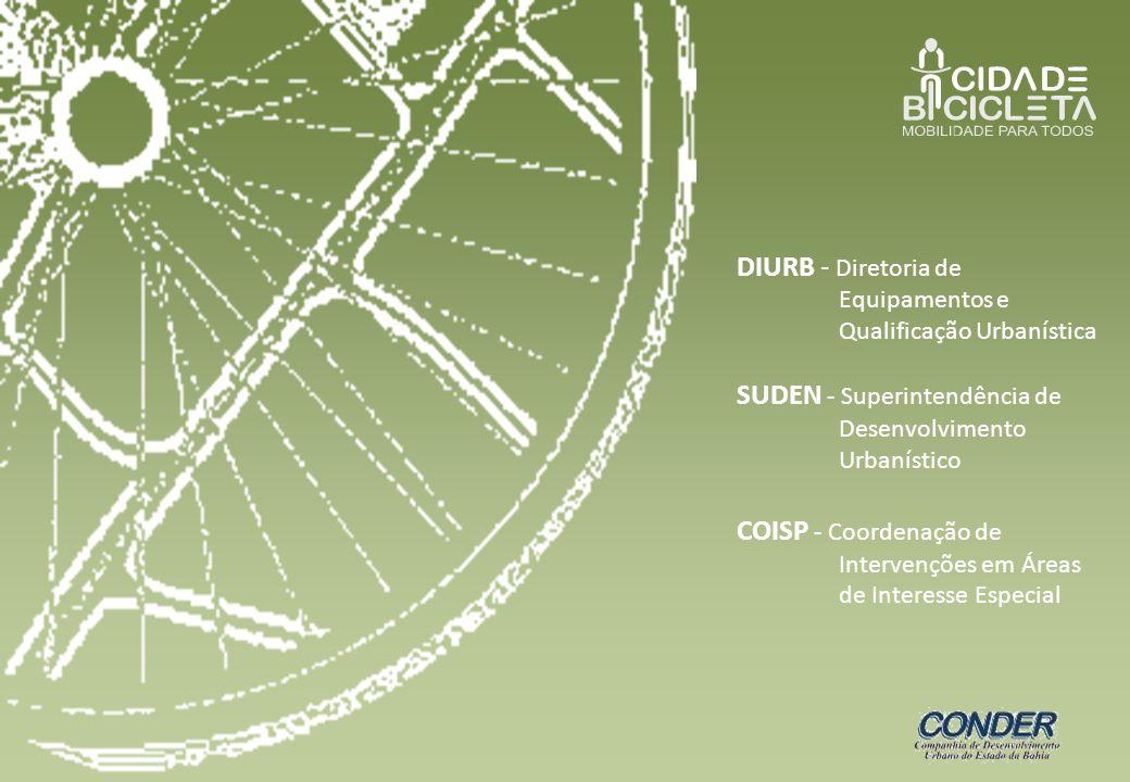 DIURB - Diretoria de Equipamentos e Qualificação Urbanística SUDEN - Superintendência de Desenvolvimento Urbanístico COISP - Coordenação de Intervençõ