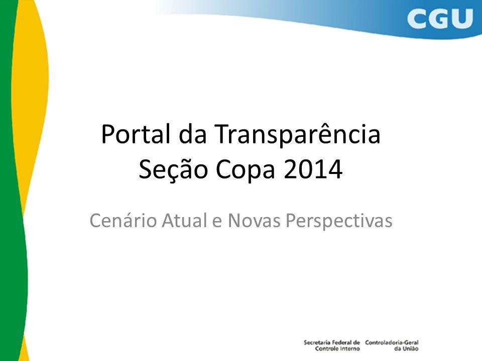 Portal da Transparência Seção Copa 2014 Cenário Atual e Novas Perspectivas