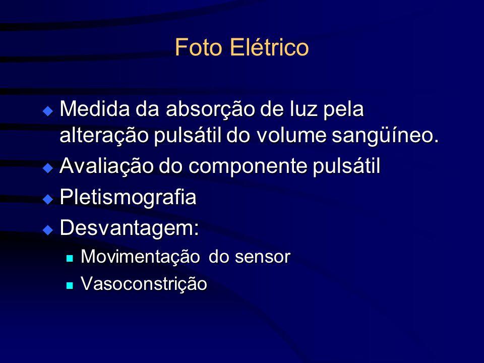 Foto Elétrico Medida da absorção de luz pela alteração pulsátil do volume sangüíneo. Medida da absorção de luz pela alteração pulsátil do volume sangü