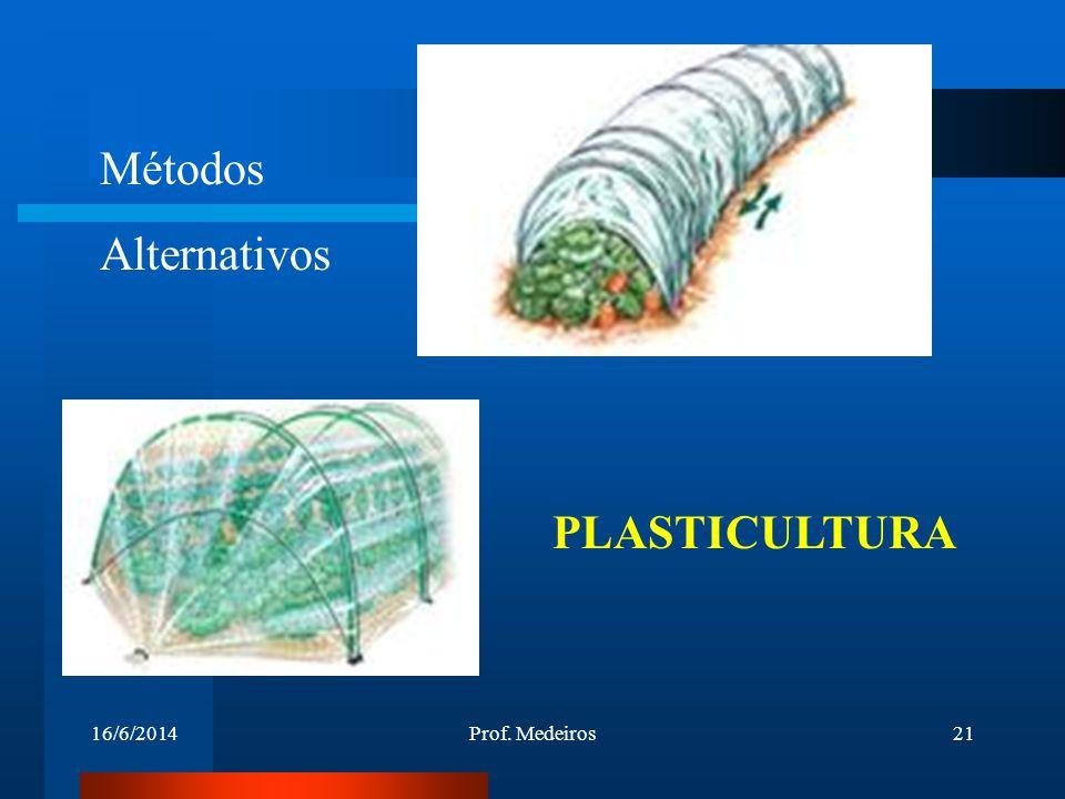 16/6/2014Prof. Medeiros21 Métodos Alternativos PLASTICULTURA