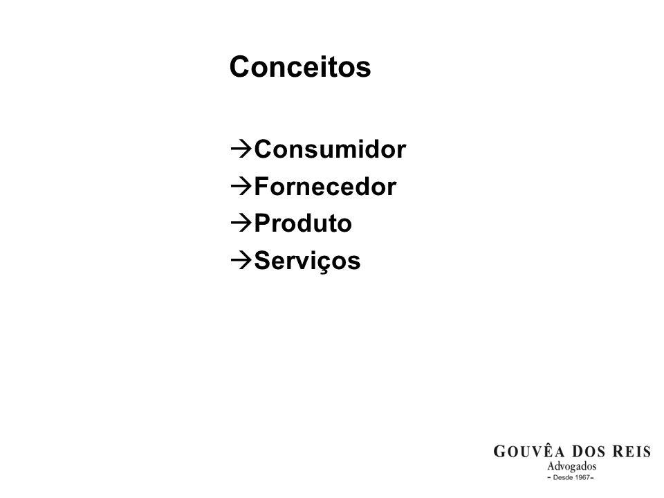 Conceitos Consumidor Fornecedor Produto Serviços
