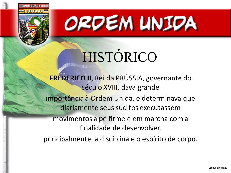 OBJETIVOS DA ORDEM UNIDA a.