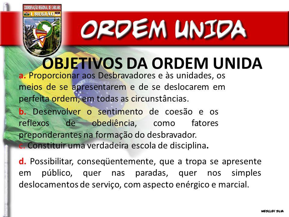 DIVISÃO DA INSTRUÇÃO DE ORDEM UNIDA a.