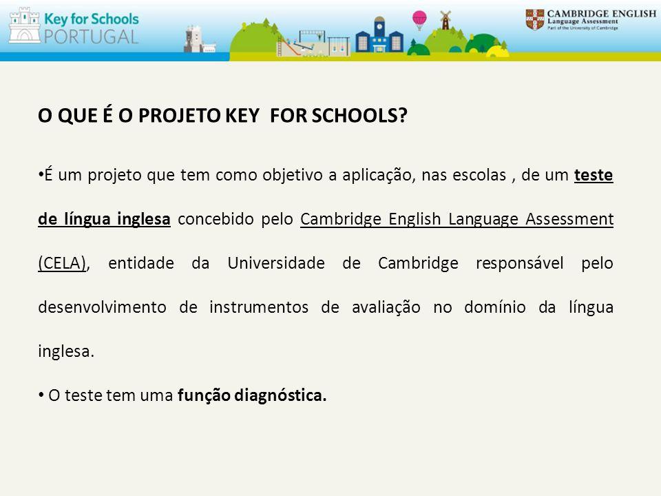 O QUE É O PROJETO KEY FOR SCHOOLS.
