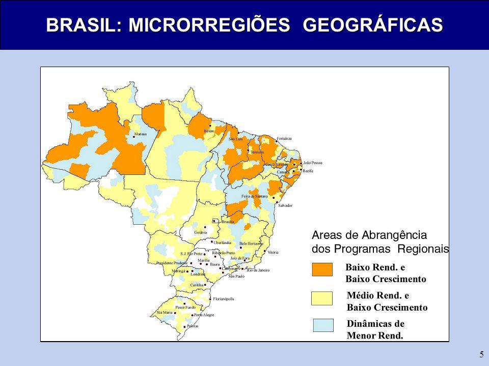 5 BRASIL: MICRORREGIÕES GEOGRÁFICAS