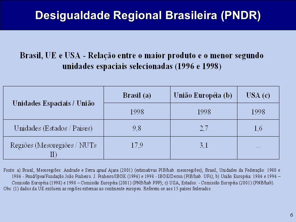 6 Desigualdade Regional Brasileira (PNDR)