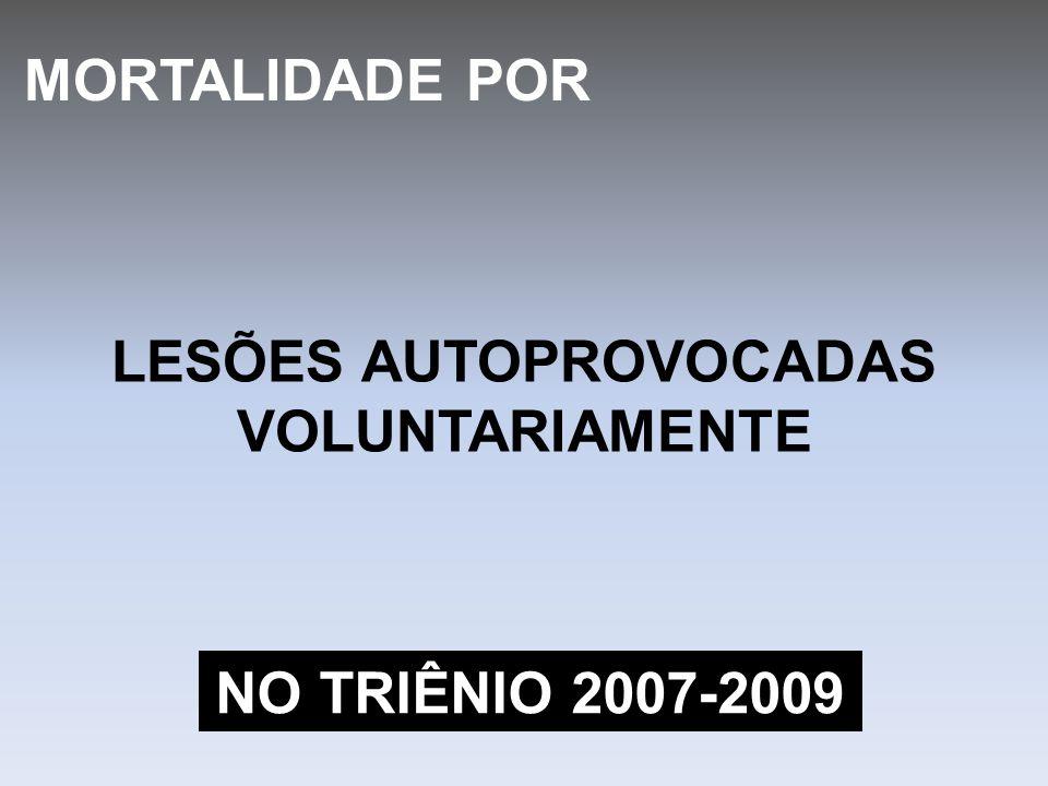 LESÕES AUTOPROVOCADAS VOLUNTARIAMENTE MORTALIDADE POR NO TRIÊNIO 2007-2009