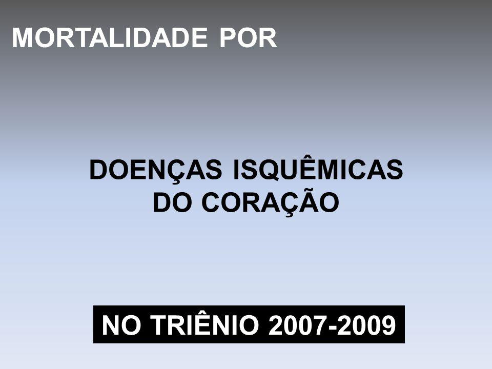 DOENÇAS ISQUÊMICAS DO CORAÇÃO MORTALIDADE POR NO TRIÊNIO 2007-2009