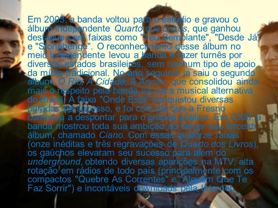 Em 2003, a banda voltou para o estúdio e gravou o álbum independente Quarto dos Livros, que ganhou destaque com faixas como