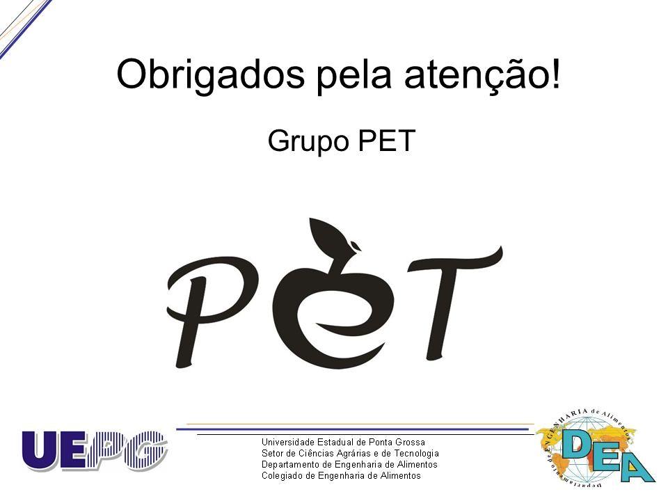 Obrigados pela atenção! Grupo PET