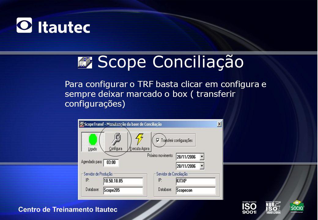 Solução Completa de Pagamento Eletrônico T153 SCOPE Conciliação Se algum resultado for produzido um relatório similar ao ilustrado abaixo será exibido.
