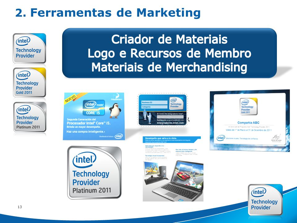 Intel Confidential 13 2. Ferramentas de Marketing