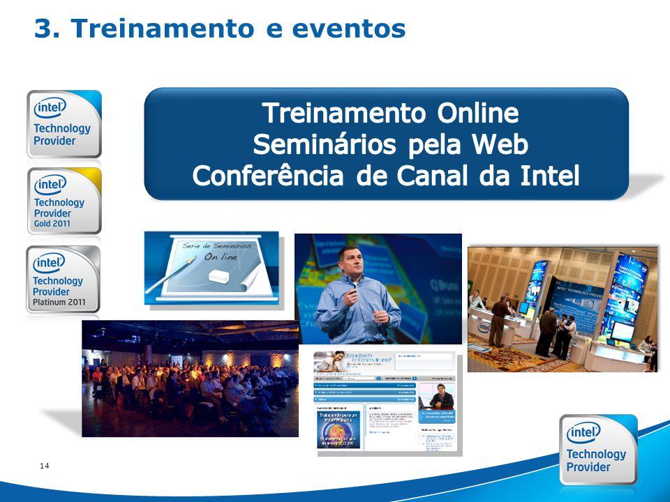 Intel Confidential 14 3. Treinamento e eventos
