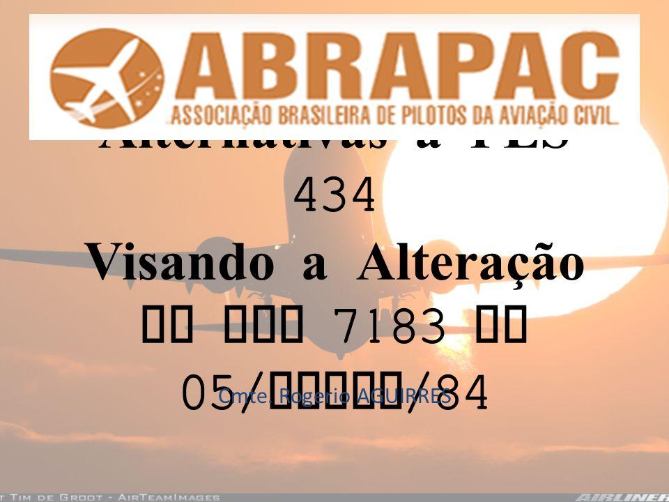 Alternativas a PLS 434 Visando a Alteração da Lei 7183 de 05/ Abril /84 Cmte. Rogerio AGUIRRES