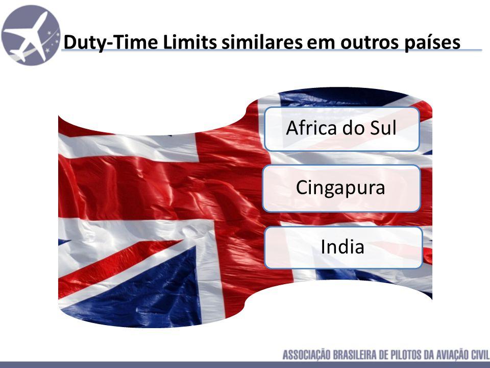 F.A.A. – Estados Unidos – Duty Time O Regulamento Americano data de 1940, e a regra para voos domesticos não explicíta exatamente o limite de tempo qu