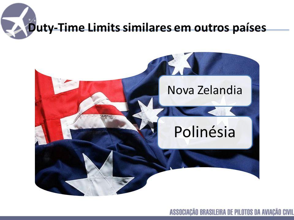 Duty-Time Limits similares em outros países Africa do Sul Cingapura India