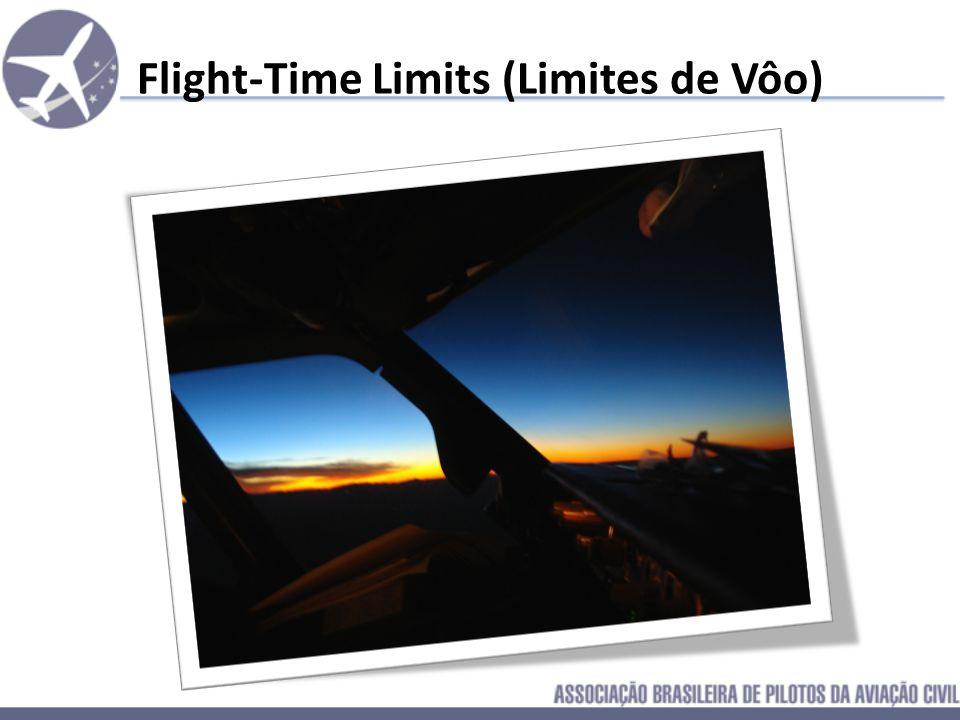 Conclusão sobre Duty Time Limits De acordo com o que foi exemplificado anteriormente, resta claro que a Jornada de Vôo Atual Brasileira está situada e