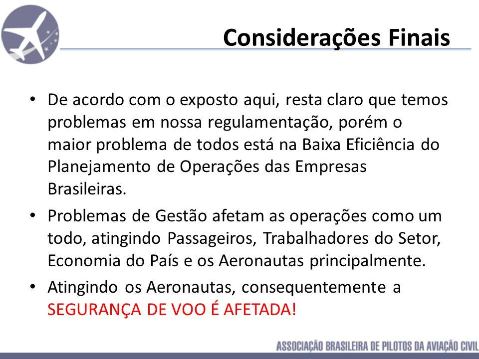Sugestões para Implementação Governamental: Criação de um canal de denuncias de violações a regulamentação do aeronauta Comprometimento da ANAC em coi