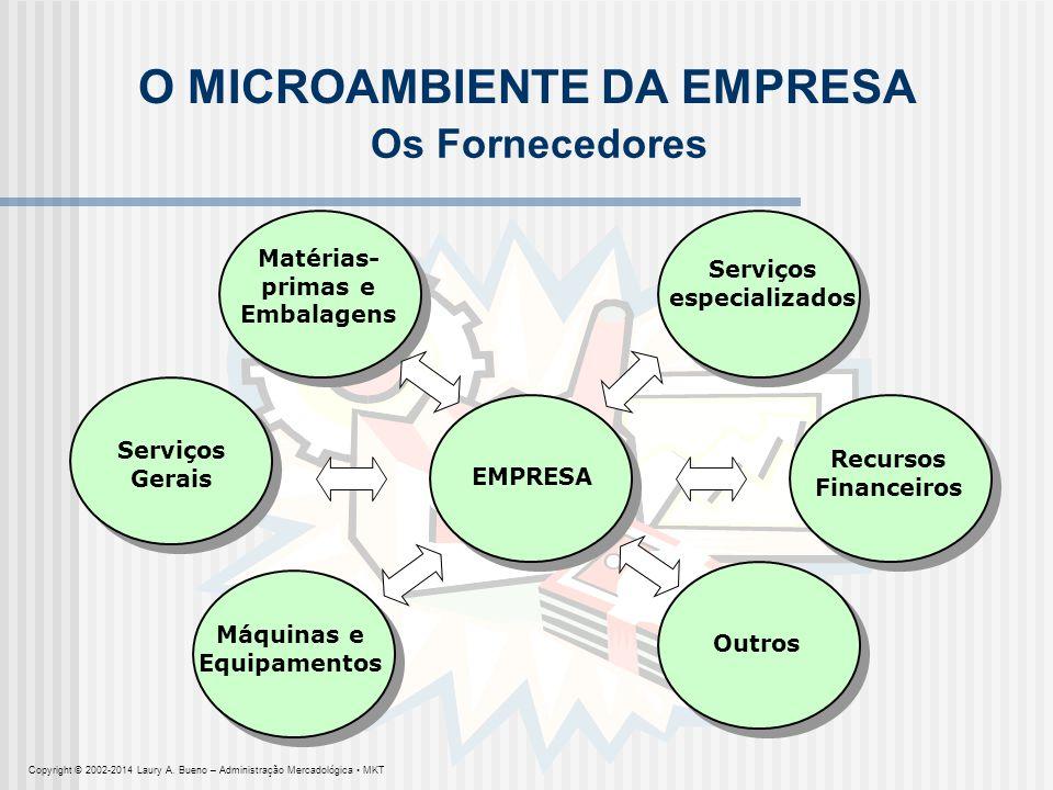 EMPRESA O MICROAMBIENTE DA EMPRESA Serviços Gerais Serviços especializados Recursos Financeiros Outros Máquinas e Equipamentos Matérias- primas e Emba