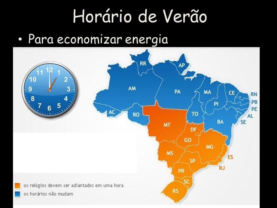 Horário de Verão Para economizar energia