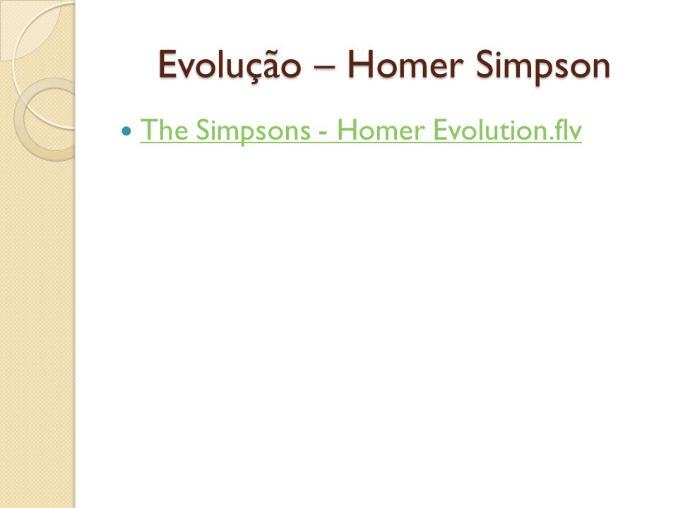 Evolução – Homer Simpson The Simpsons - Homer Evolution.flv
