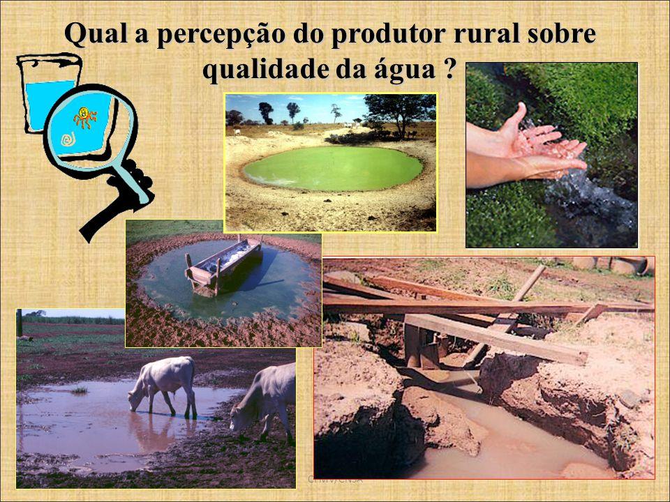 CFMV/CNSA Qual a percepção do produtor rural sobre qualidade da água ?