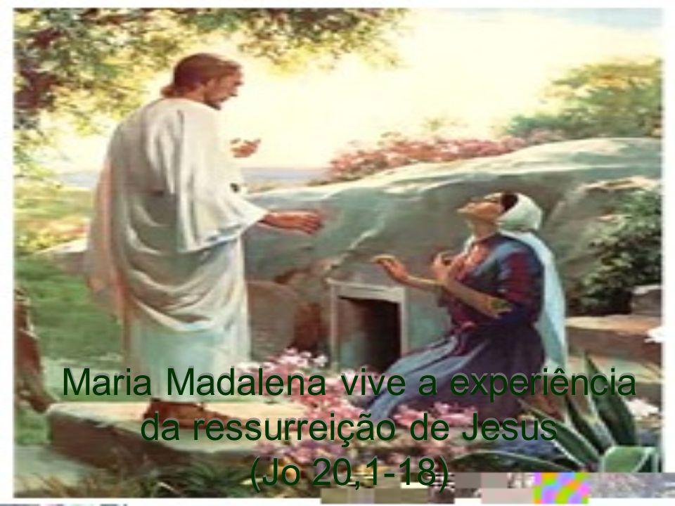 Maria Madalena vive a experiência da ressurreição de Jesus (Jo 20,1-18)