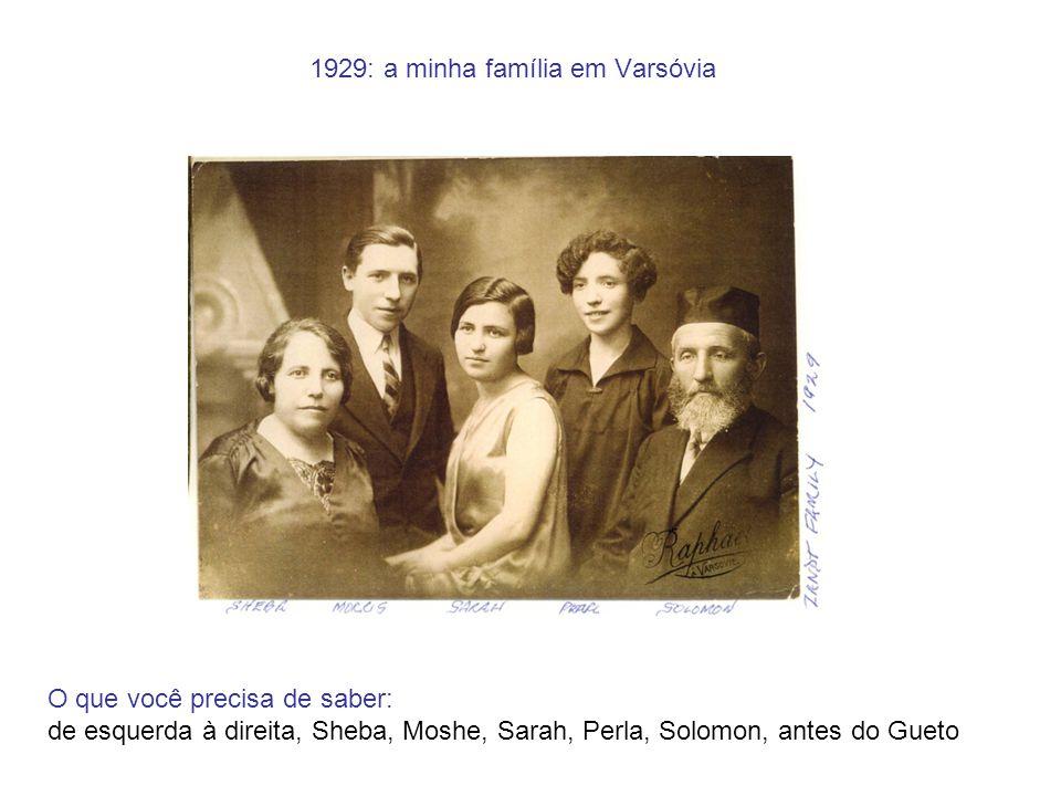 1929: a minha família em Varsóvia O que você precisa de saber: de esquerda à direita, Sheba, Moshe, Sarah, Perla, Solomon, antes do Gueto