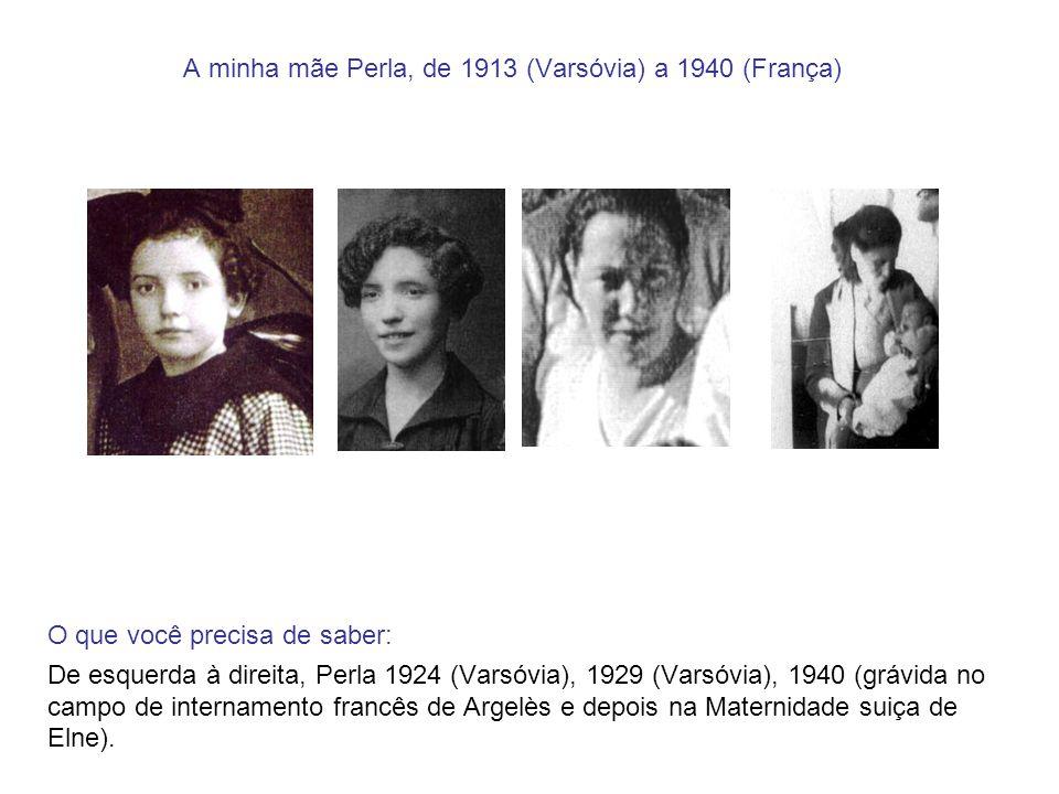 A minha mãe Perla, de 1913 (Varsóvia) a 1940 (França) O que você precisa de saber: De esquerda à direita, Perla 1924 (Varsóvia), 1929 (Varsóvia), 1940