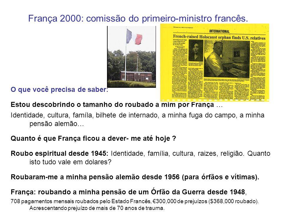 França 2000: comissão do primeiro-ministro francês. O que você precisa de saber: Estou descobrindo o tamanho do roubado a mim por França … Identidade,