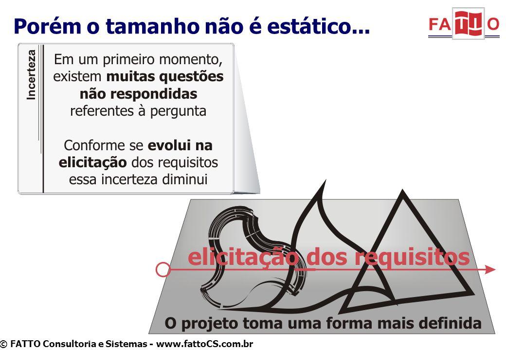 © FATTO Consultoria e Sistemas - www.fattoCS.com.br Porém o tamanho não é estático...