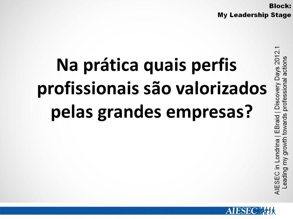 Na prática quais perfis profissionais são valorizados pelas grandes empresas?