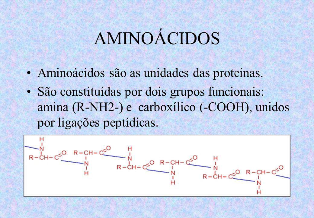 PROTEÍNAS: CONCEITO As Proteínas são compostos orgânicos de estrutura complexa sintetizadas pelos organismos vivos contendo aminoácidos, unidades ligadas através de ligações peptídicas.
