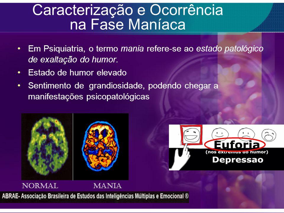 Caracterização e Ocorrência na Fase Maníaca Em Psiquiatria, o termo mania refere-se ao estado patológico de exaltação do humor.