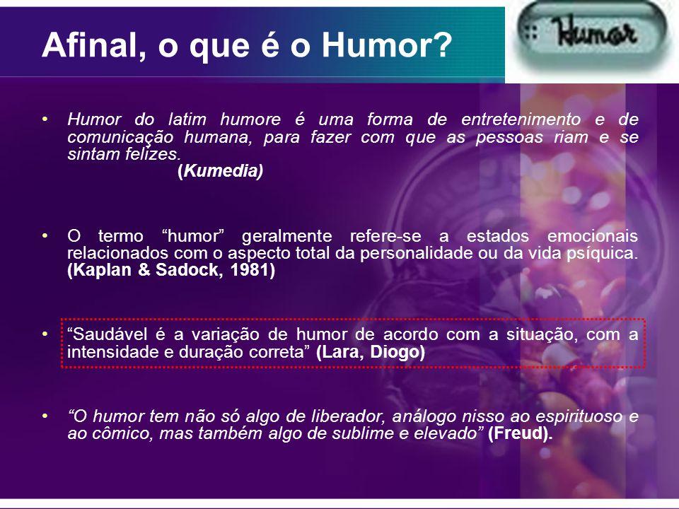 Humor do latim humore é uma forma de entretenimento e de comunicação humana, para fazer com que as pessoas riam e se sintam felizes.