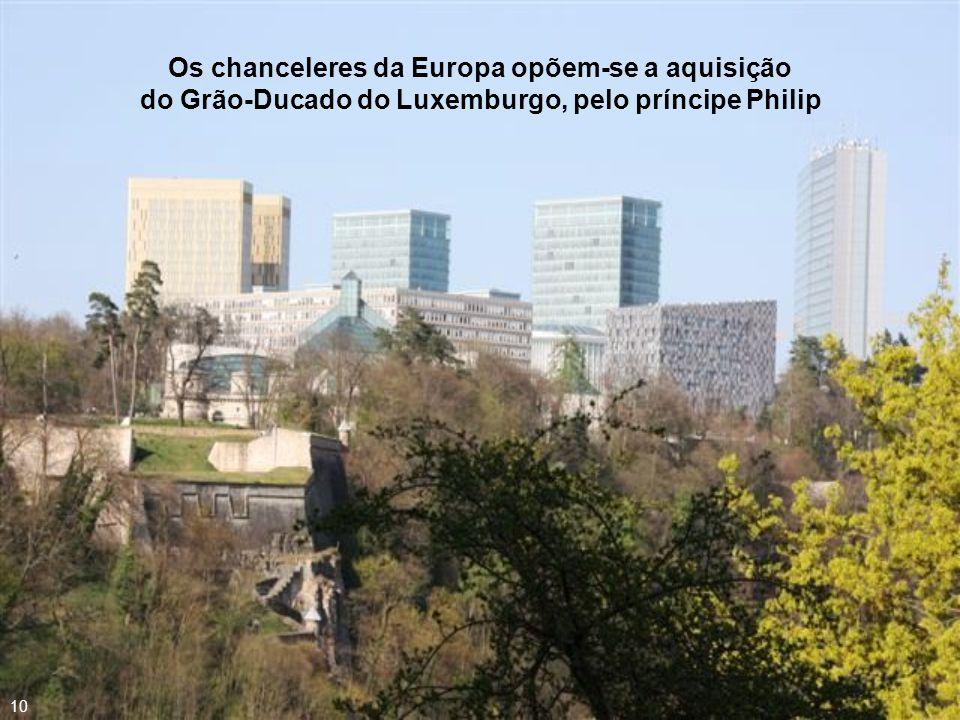 Em 1867, aconteceu a crise de Luxembourg, o que levou à venda do território para o príncipe francês Philip, dito o Bom, Duque de Borgonha, de Brabante e dos Paises-Baixos, dentre outros títulos 09