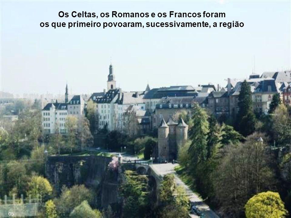 Os Celtas, os Romanos e os Francos foram os que primeiro povoaram, sucessivamente, a região 05