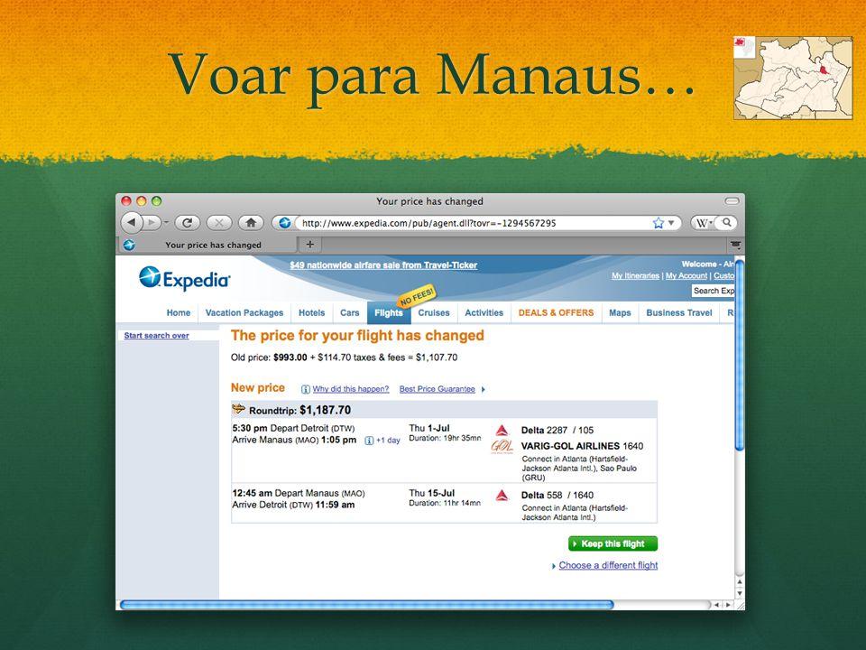 Voar para Manaus…