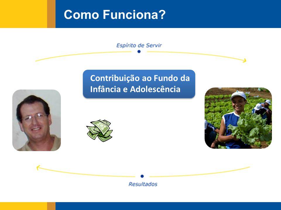 Como Funciona? Contribuição ao Fundo da Infância e Adolescência