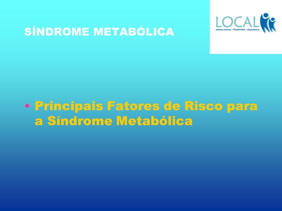 SÍNDROME METABÓLICA Principais Fatores de Risco para a Síndrome Metabólica