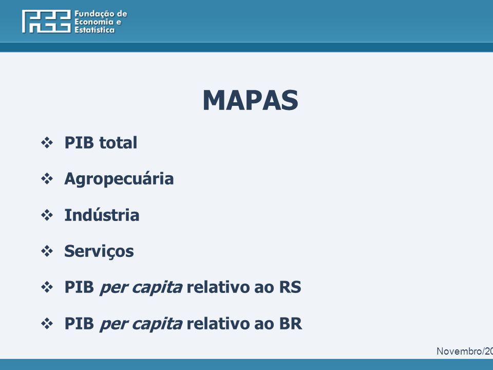 PIB Municipal 2011 Destaques FEE / Centro de Informações Estatísticas / Núcleo de Contas Regionais