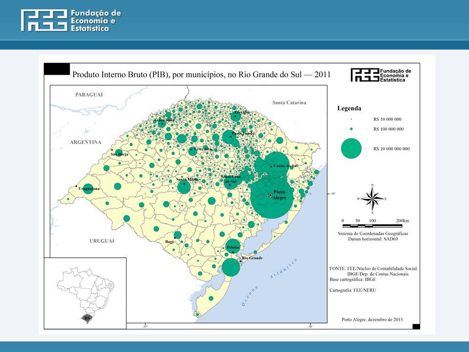 10 Maiores PIBs do RS - 2011