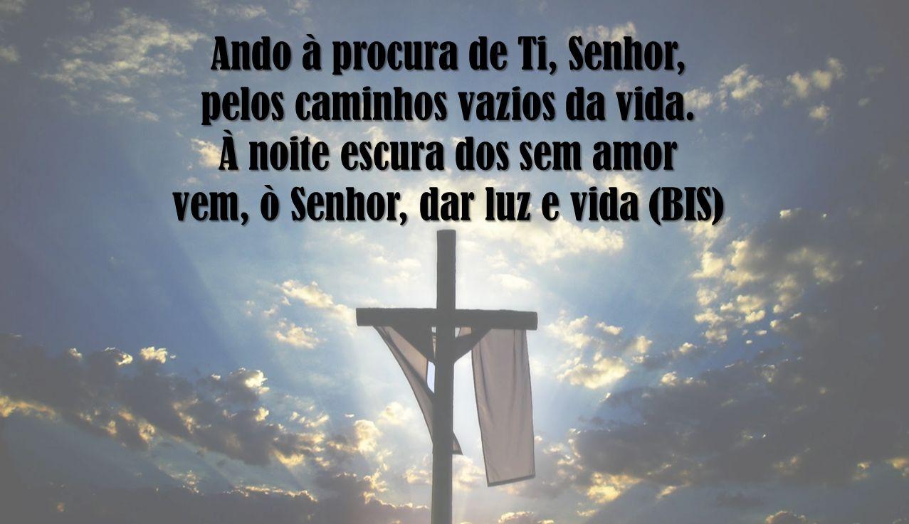 Ando à procura de Ti, Senhor, pelos caminhos vazios da vida. À noite escura dos sem amor vem, ò Senhor, dar luz e vida (BIS)