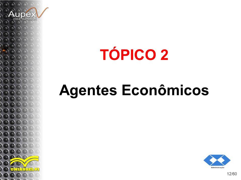 TÓPICO 2 Agentes Econômicos 12/60