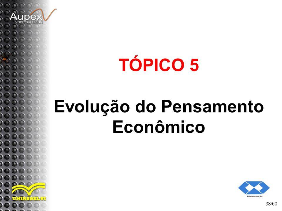 TÓPICO 5 Evolução do Pensamento Econômico 38/60